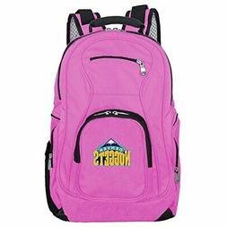 NBA Denver Nuggets Voyager Laptop Backpack 19-inches Pink