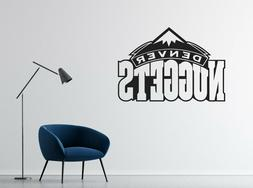 NBA Denver Nuggets Wall Decal Art Vinyl Basketball Team Room