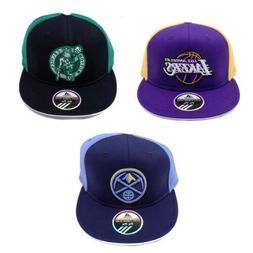 NBA Hat Cap Flat Brim Visor Flex Fit Wool Adidas Fitted Lake