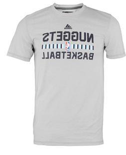 Adidas NBA Men's Denver Nuggets Aeorknit Tee Shirt, Grey