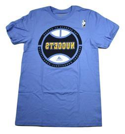 adidas NBA Mens Denver Nuggets Basketball Go To Tee Shirt Ne