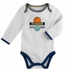 NBA Newborn One Piece, Bib and Pants Nuggets Set