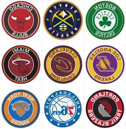 nba roundel mat round area rug multiple