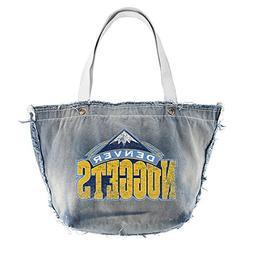 NBA Vintage Tote Bag, Denver Nuggets, Denim