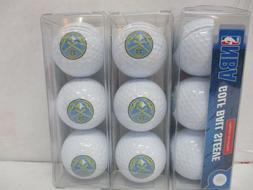~NEW~ Denver Nuggets McArthur 9 Pack Golf Balls - NBA Golf B