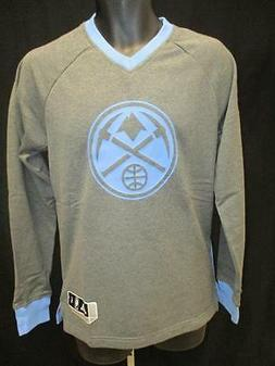 New Denver Nuggets Mens Size S Small Gray Adidas Sweater MSR