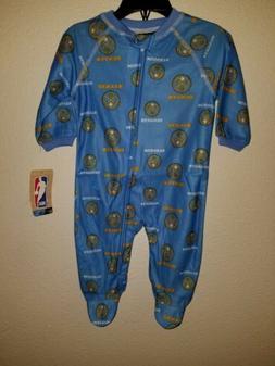 NBA Newborn Denver Nuggets Sleepwear All Over Print Zip Up C