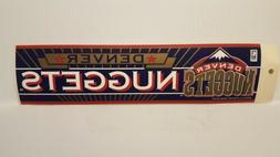 DENVER NUGGETS   Vintage Team Bumper Sticker  Decal Strip