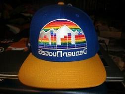 NWOT DENVER NUGGETS Throwback Rainbow Skyline Logo Snapback