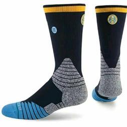 NWT Stance Denver Nuggets Mens 559 Fusion Logo Crew Socks XL