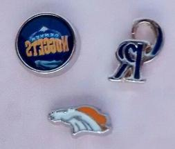 Set of 3 Colorado Rockies, Denver Broncos & Denver Nuggets F
